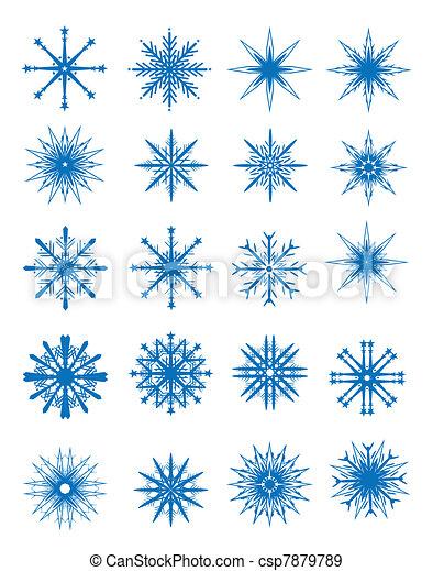 Snowflakes set - csp7879789