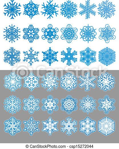 Snowflakes set - csp15272044
