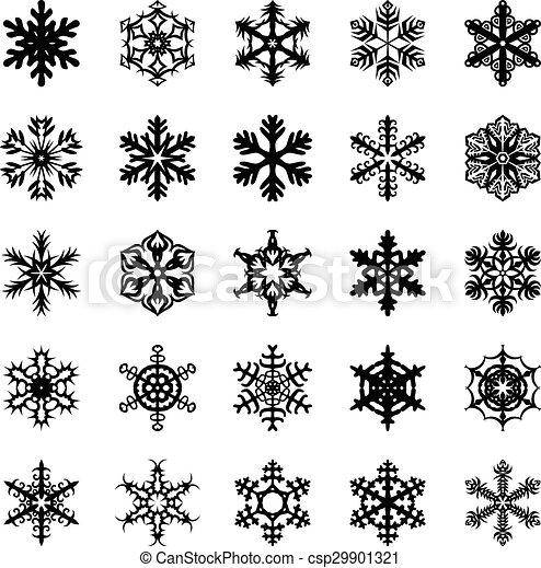 Snowflakes set - csp29901321