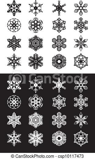 Snowflakes set - csp10117473