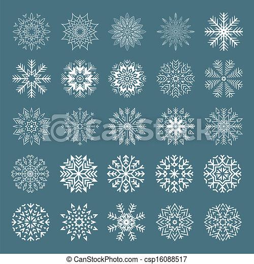 Snowflakes set. - csp16088517