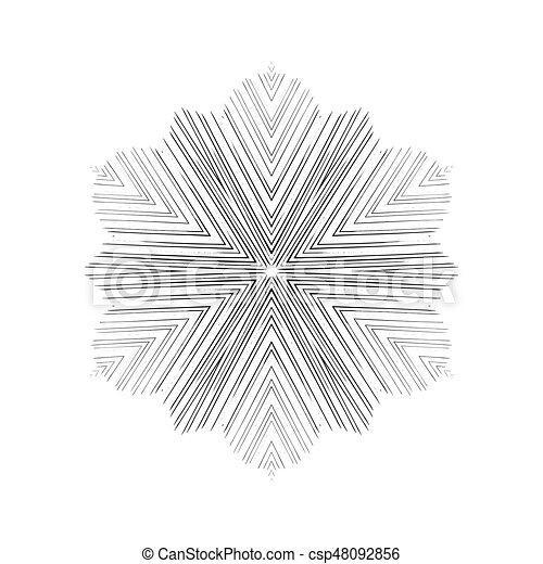 snowflakes., vecteur, grunge, illustration. - csp48092856