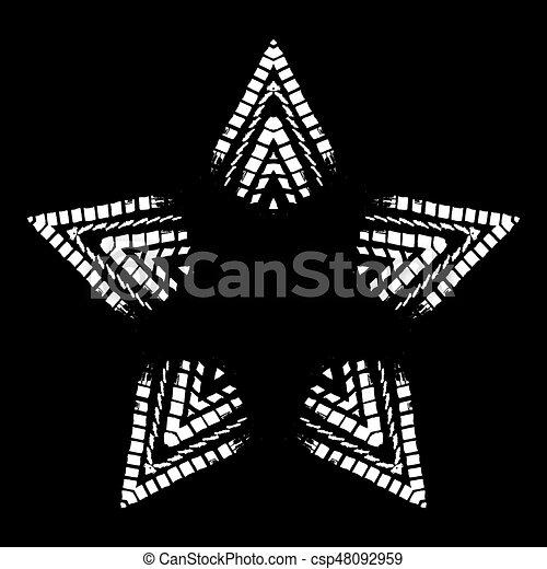 snowflakes., vecteur, grunge, illustration. - csp48092959