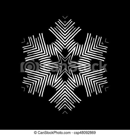 snowflakes., vecteur, grunge, illustration. - csp48092869