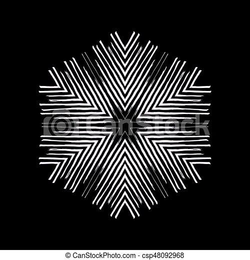snowflakes., vecteur, grunge, illustration. - csp48092968