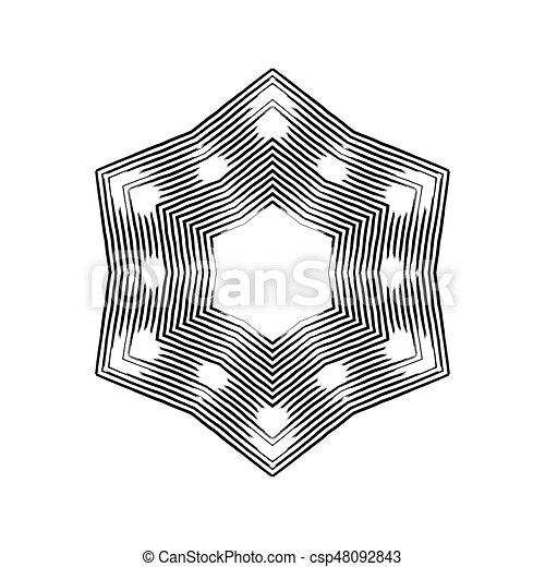 snowflakes., vecteur, grunge, illustration. - csp48092843