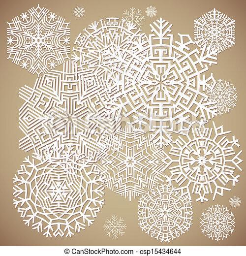 snowflakes., vecteur, illustration - csp15434644