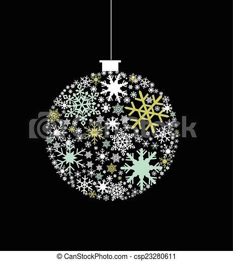 snowflakes - csp23280611