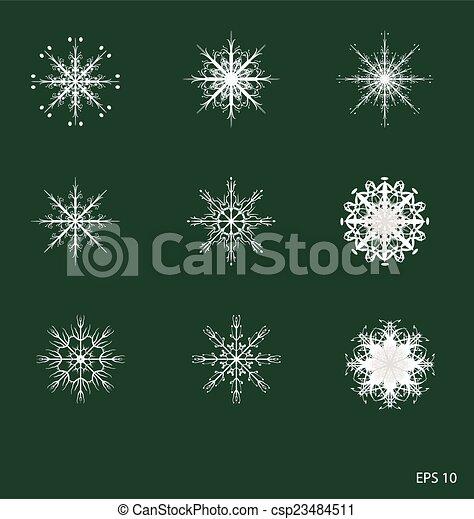 snowflakes - csp23484511