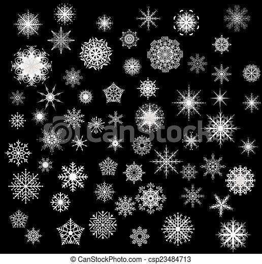 snowflakes - csp23484713