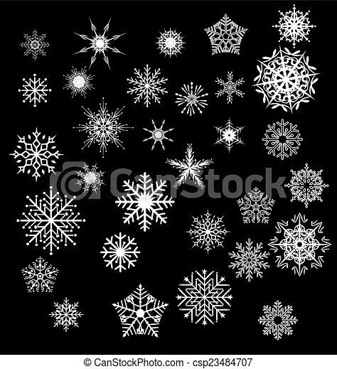 snowflakes - csp23484707