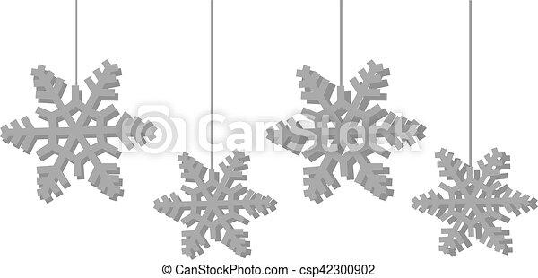 Snowflakes - csp42300902