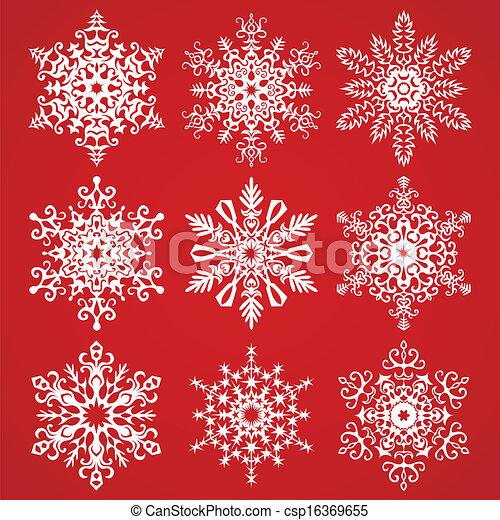 Snowflakes Vector Collection - csp16369655