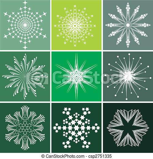Snowflakes vector set - csp2751335
