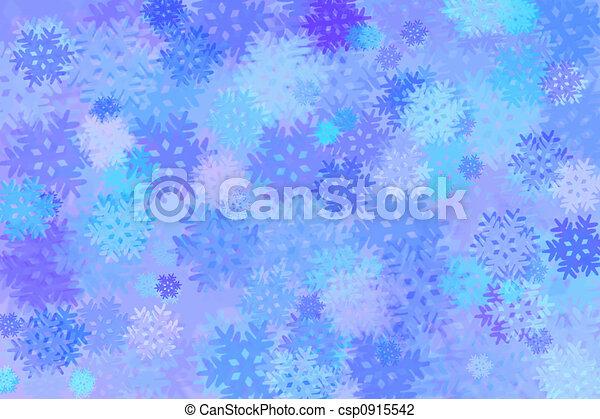 Snowflakes - winter background - csp0915542