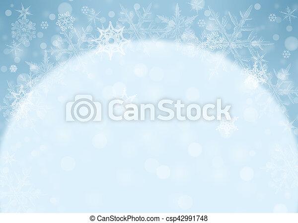 Snowflakes - winter background - csp42991748