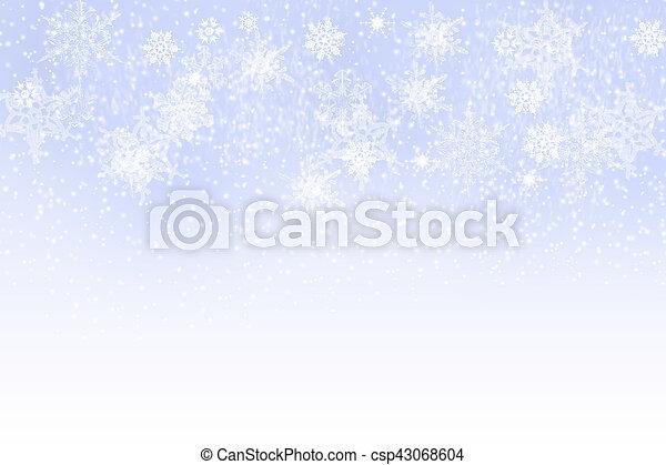 Snowflakes - winter background - csp43068604
