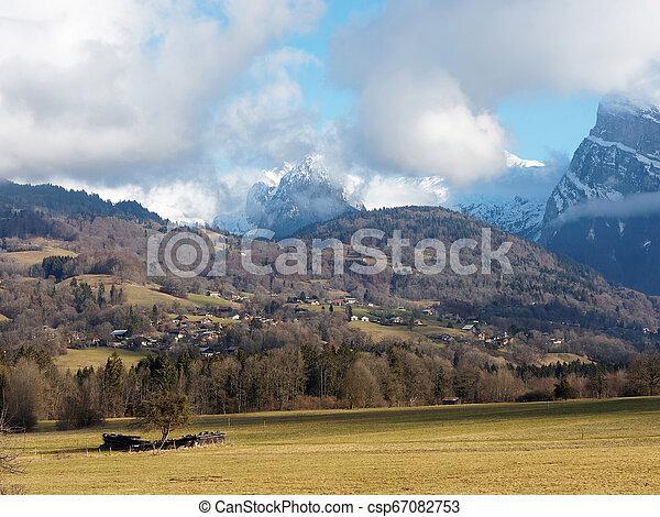 snowless, giffre, durante, vale rio, inverno - csp67082753