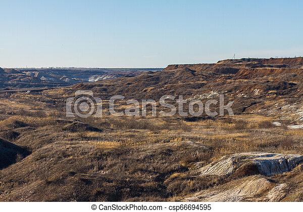snowless, paisagem inverno, manhã - csp66694595