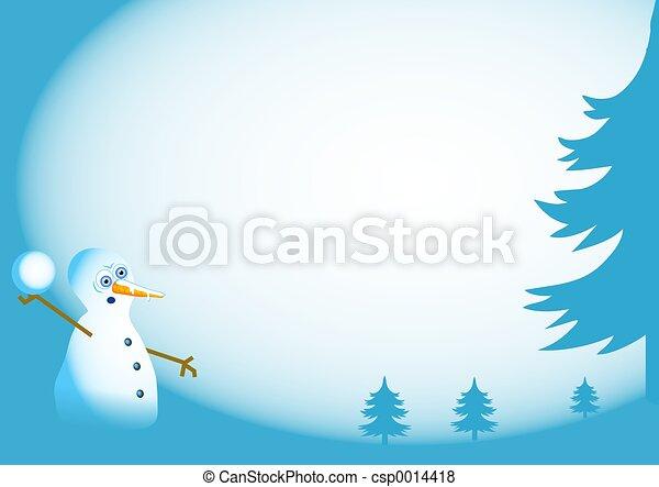 Snowman Border - csp0014418