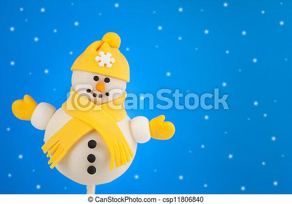 Snowman cake pop - csp11806840