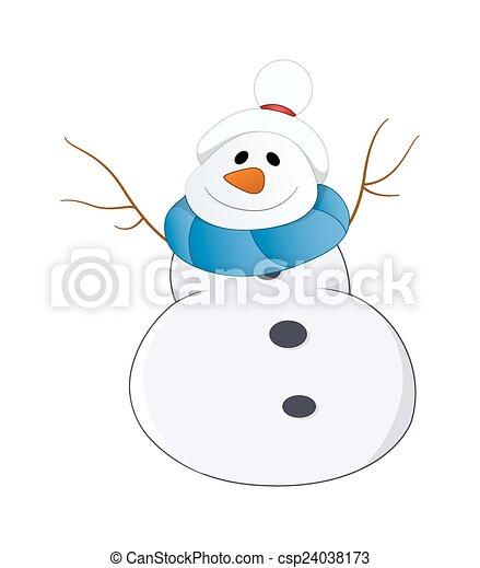 Feliz muñeco de nieve - csp24038173