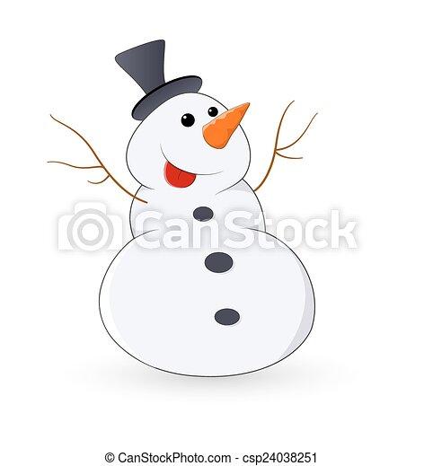 Gracioso muñeco de nieve de Navidad - csp24038251