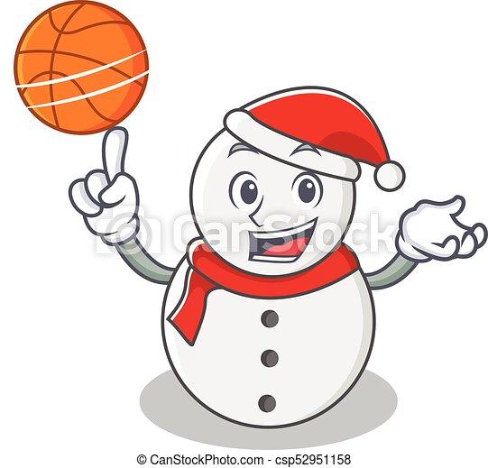 Con el estilo de dibujos animados de basquetbol - csp52951158