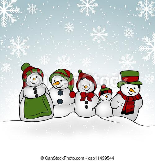 snowman family christmas illustration vector rh canstockphoto com Snowman Baby Clip Art snowman family clipart free