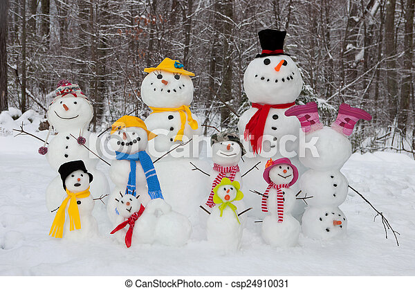 Snowman family - csp24910031