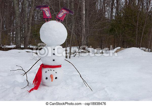 Snowman headstand - csp18938476