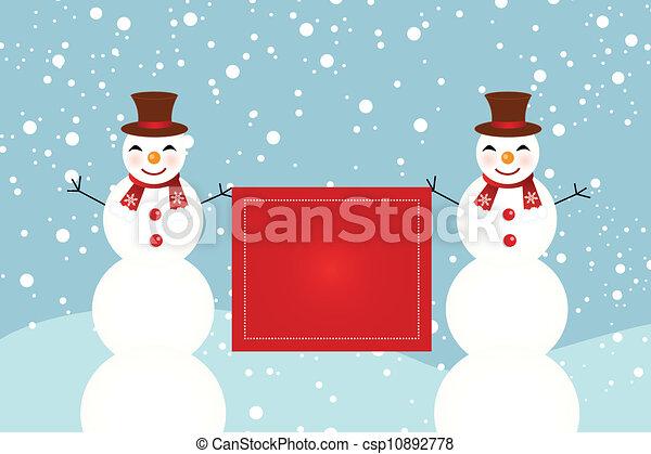 snowman - csp10892778