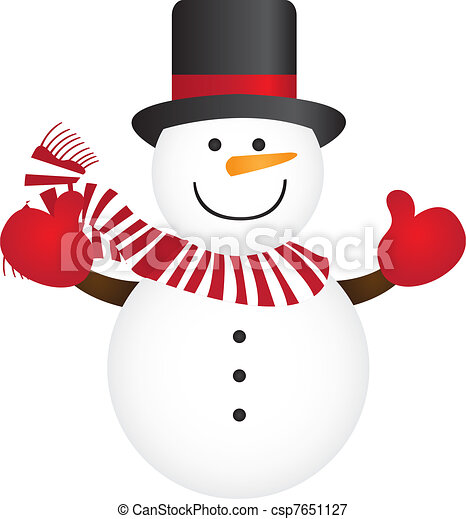 cute snowman isolated over white background vector vectors rh canstockphoto com vector snow mountains vector snowflake