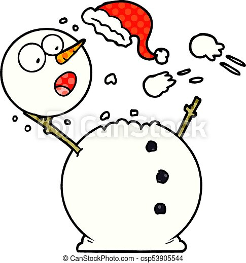 snowman in snowball fight eps vector search clip art illustration rh canstockphoto com snowball fight clipart black and white snowman snowball fight clipart