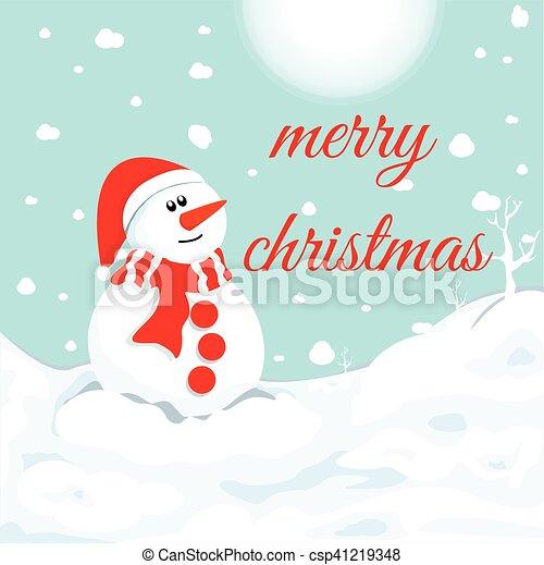 Snowman In Winter Christmas Symbol
