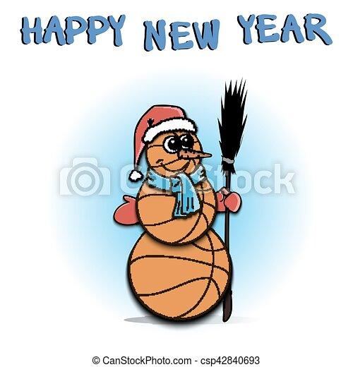 Snowman of basketball - csp42840693