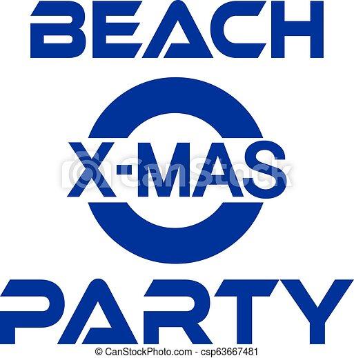 Fiesta de Navidad en la playa con Palm y Snowman - csp63667481