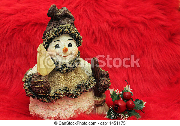 snowman ready for Christmas - csp11451175