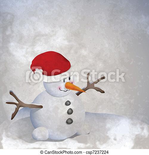 Snowman retro - csp7237224