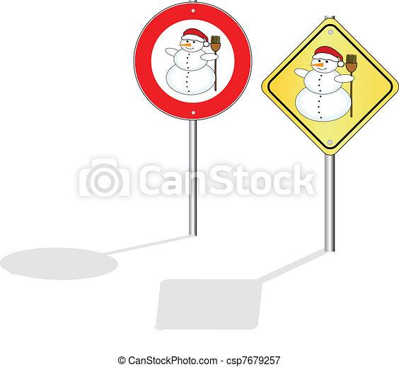 Un signo de Snowman - csp7679257