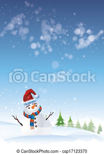 Snowman - csp17123370