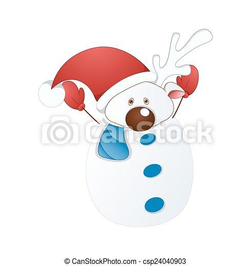 Vector de personaje de Snowman - csp24040903
