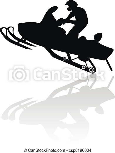 Snowmobile motorbike silhouette  - csp8196004