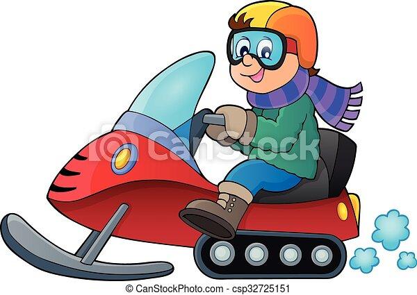 Snowmobile theme image 1 - csp32725151