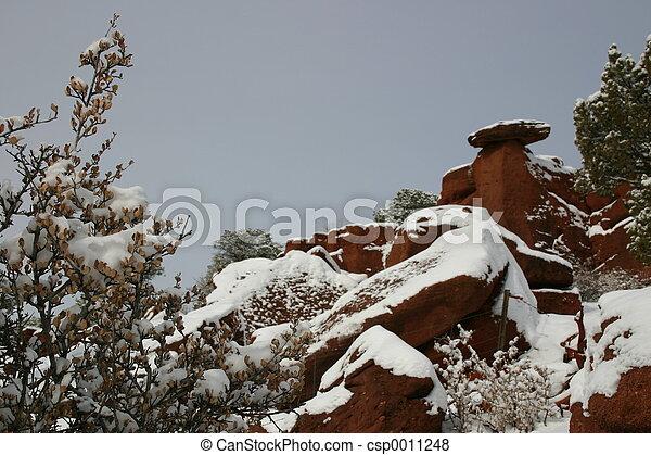 Snowy Balance Rock - csp0011248