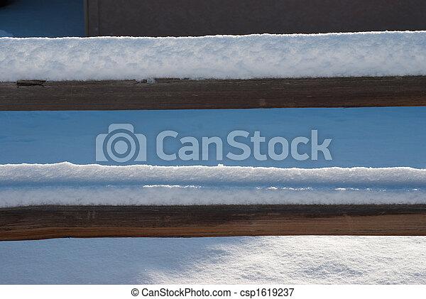 Snowy Fence - csp1619237