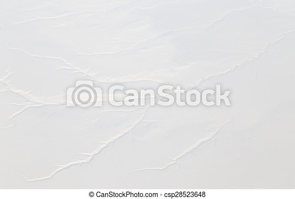 snowy land. view from the airplane as background - csp28523648