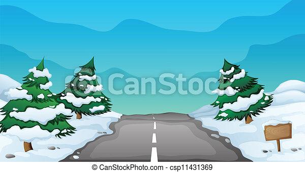 snowy landscape - csp11431369