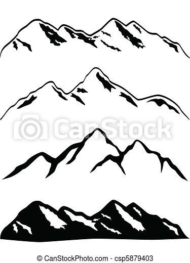 Snowy mountain peaks - csp5879403