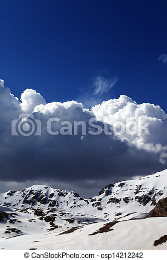 Snowy mountains and blue sky - csp14212242